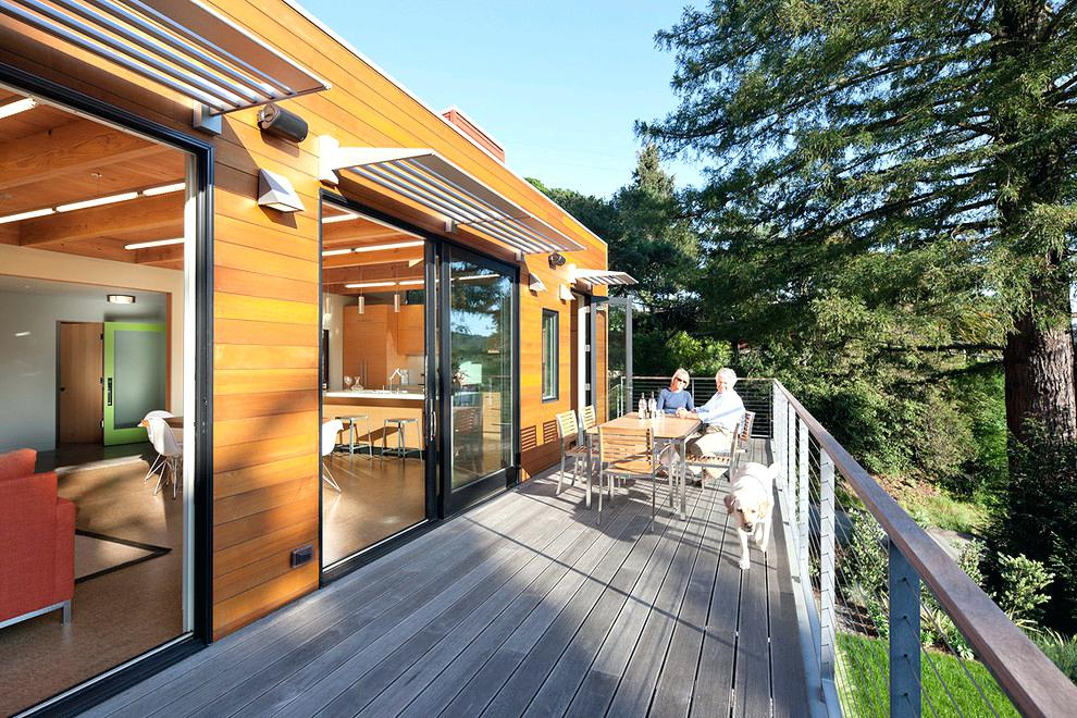 contemporary metal awnings metal awning deck contemporary with awnings cable railing cedar siding wood