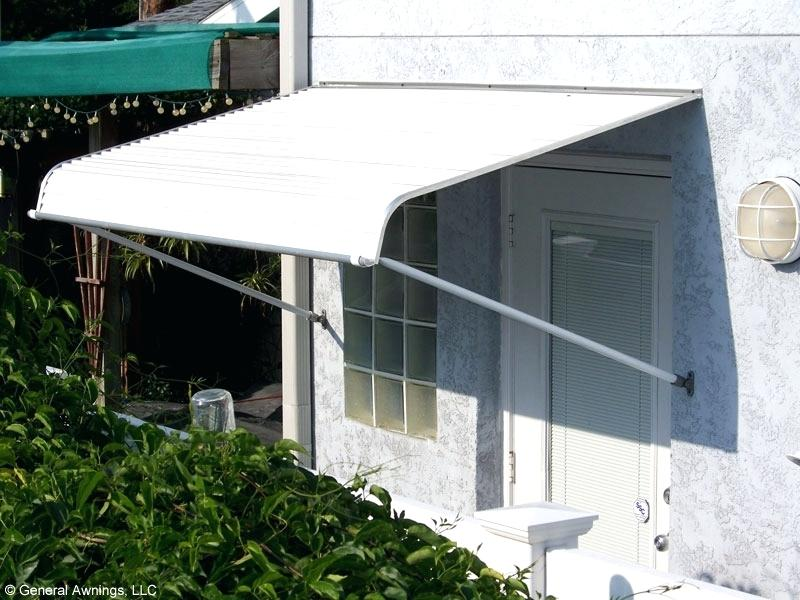 contemporary metal awnings