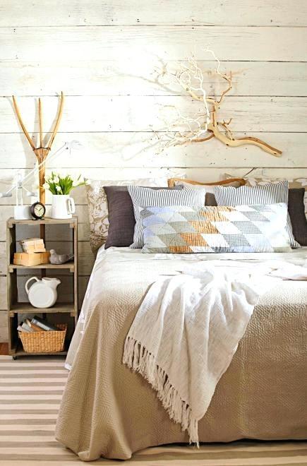 farmhouse bedding ideas organic accents