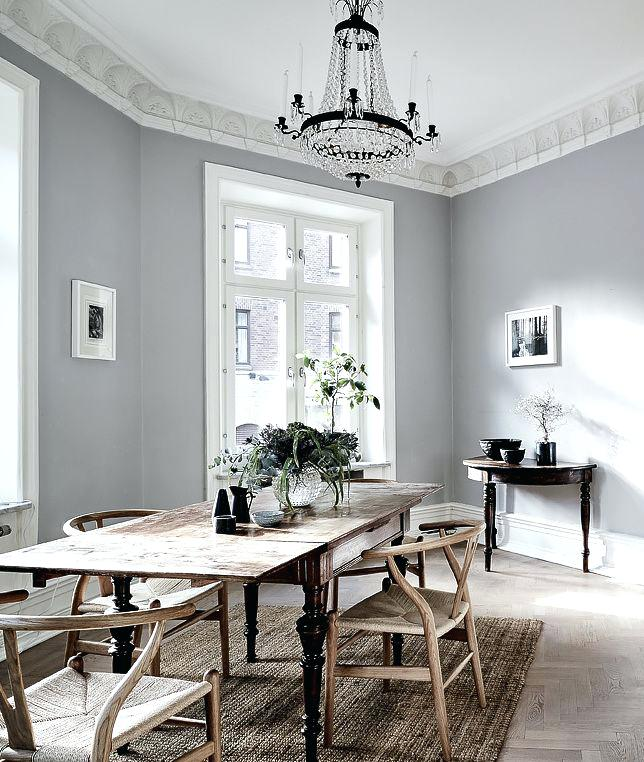 light grey walls white ceiling light and cozy home