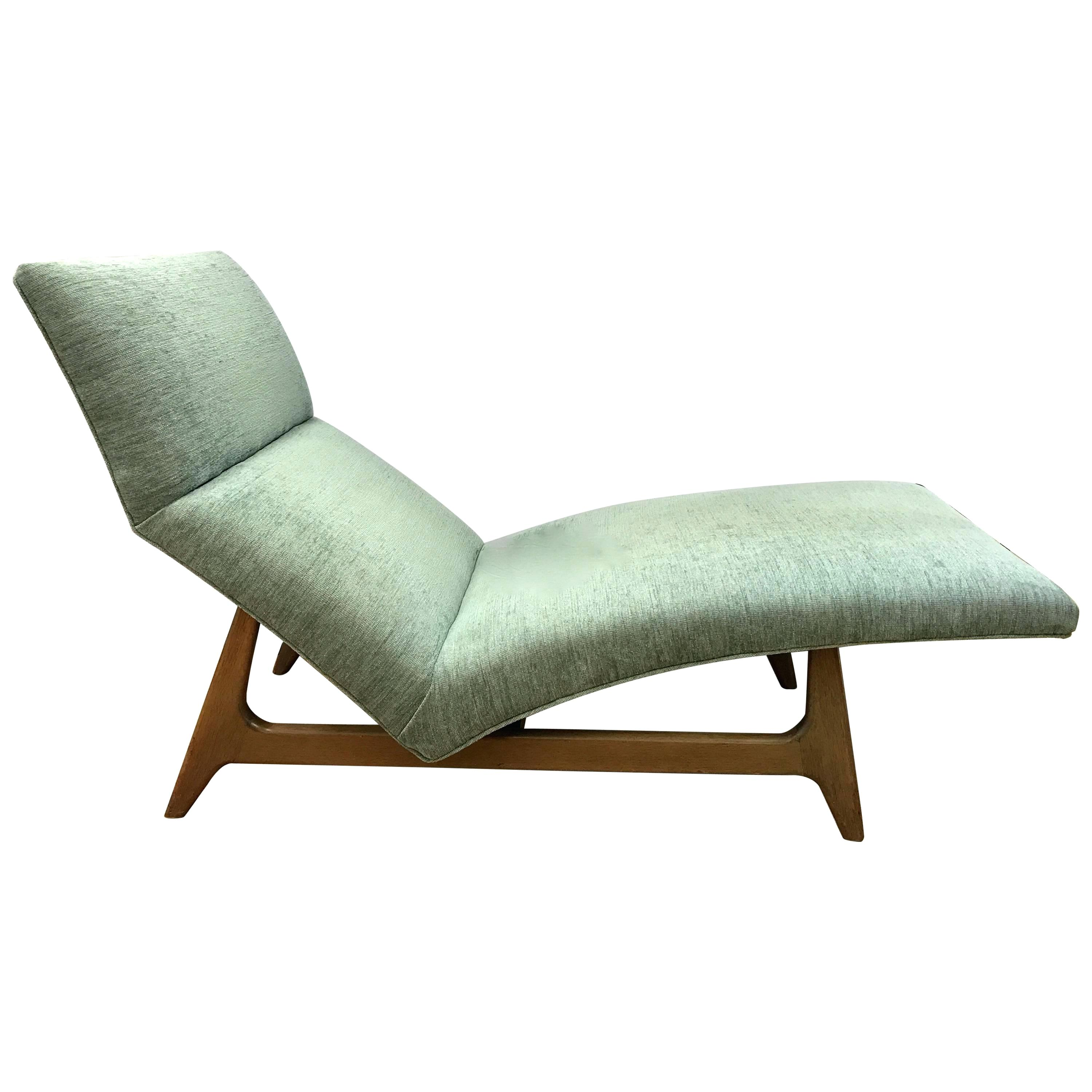 mid century chaise lounge chair curved chaise lounge chair attributed to for sale