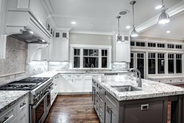 white and grey granite countertops granite kitchen with white cabinets