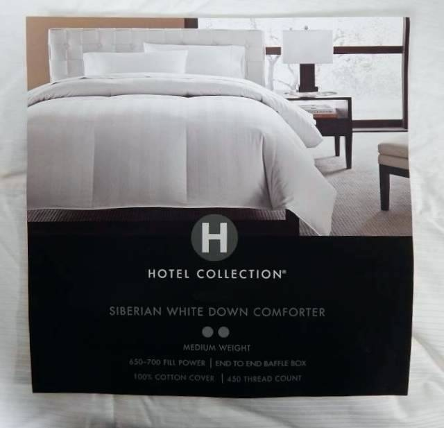 hotel collection down comforter