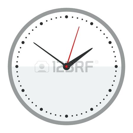 Modern Clock Face Clock Face Dial Watch Alarm Vector Illustration Clock Face Icon Isolated On White Background