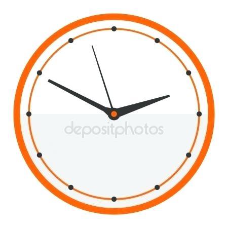 Modern Clock Face Clock Face Watch Vector Illustration