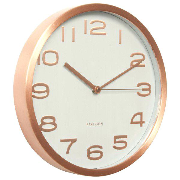 Modern Clock Face Copper Clock White