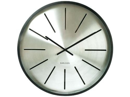 modern clock face present time station wall clock matte black case