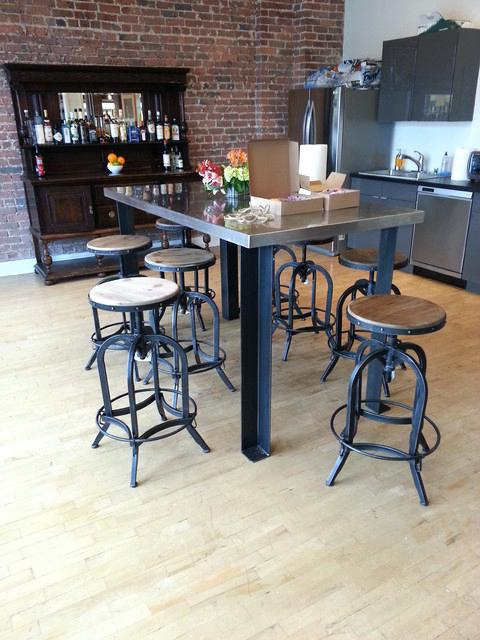 Modern Industrial Kitchen Table New Legs For A Modern Kitchen Table Industrial Dining Room