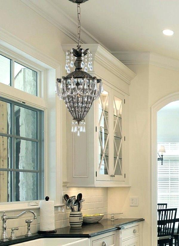 over the kitchen sink lighting ideas image of beautiful light for over kitchen sink using crystal beads on shabby chic chandelier
