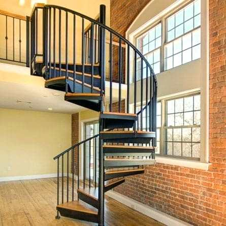 pics of stairs city condo spiral staircase