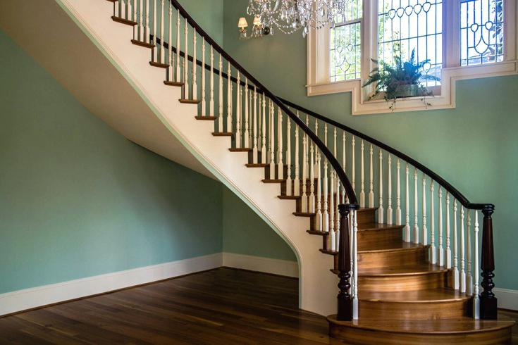 Pics Of Stairs Curved Stairs With Wooden Baluster