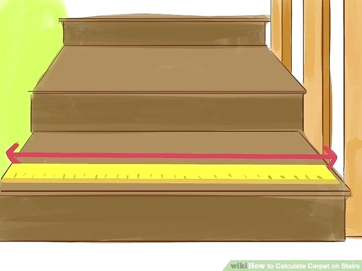 pics of stairs image titled calculate carpet on stairs step 1
