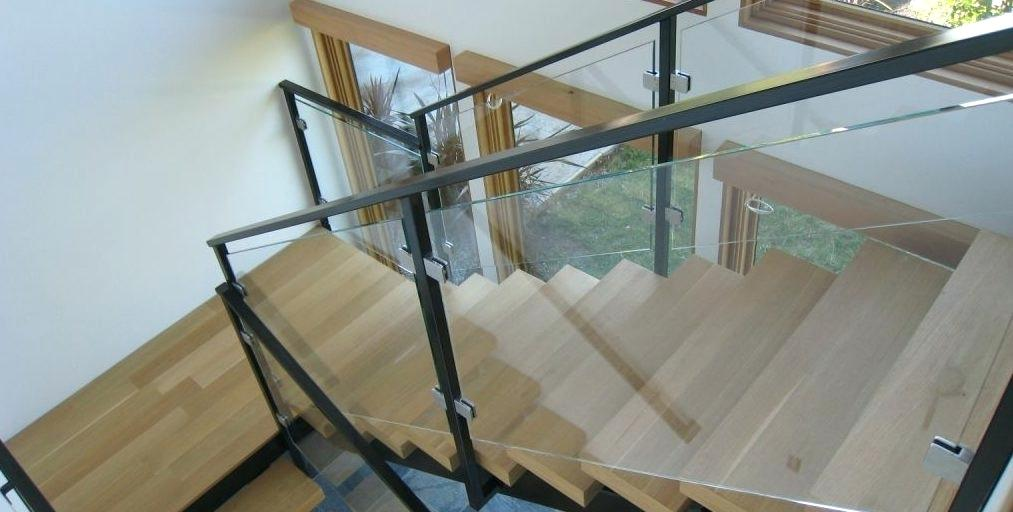 plexiglass railing guard a glass railing system for staircases from consists of three key components the glass panel and standoffs or base shoes