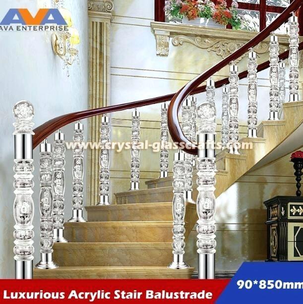 Plexiglass Railing Guard China Acrylic Staircase Pillar Balustrade Railings China Acrylic Pillar Acrylic Balustrade
