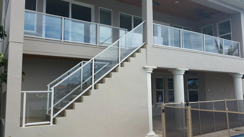 plexiglass railing guard glass railing fl