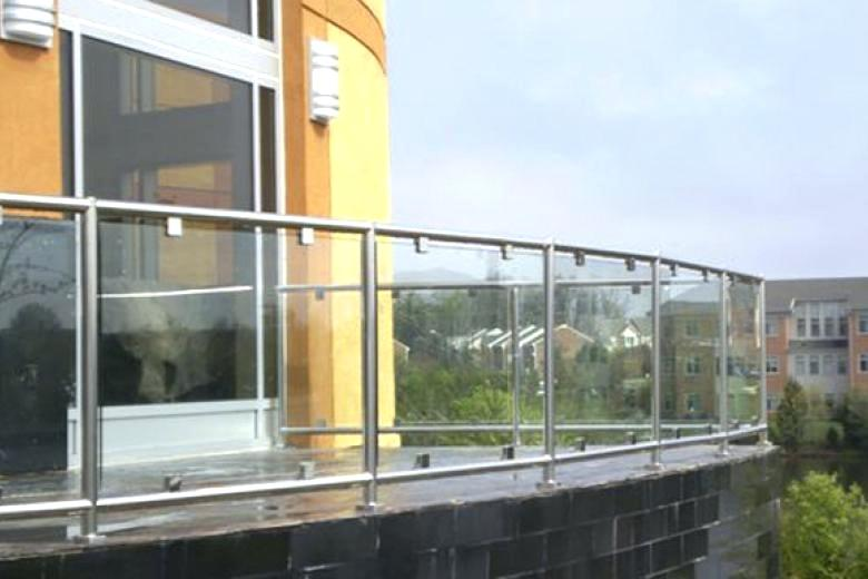 plexiglass railing guard glass railing with stainless steel modular frame