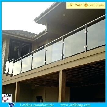 plexiglass railing guard terrace railing pipe deck balcony railings