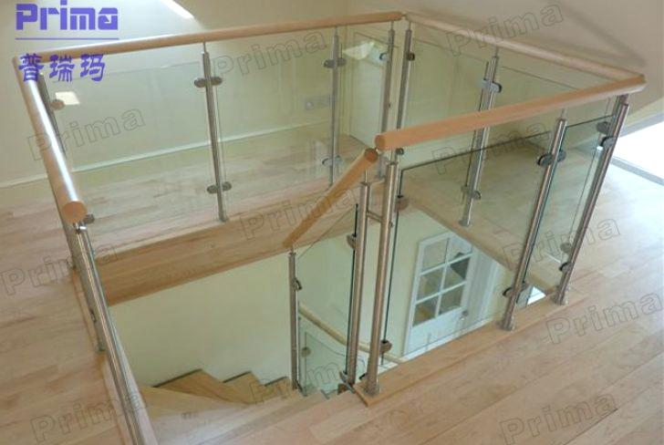 plexiglass railing guard to railing stairs ideas