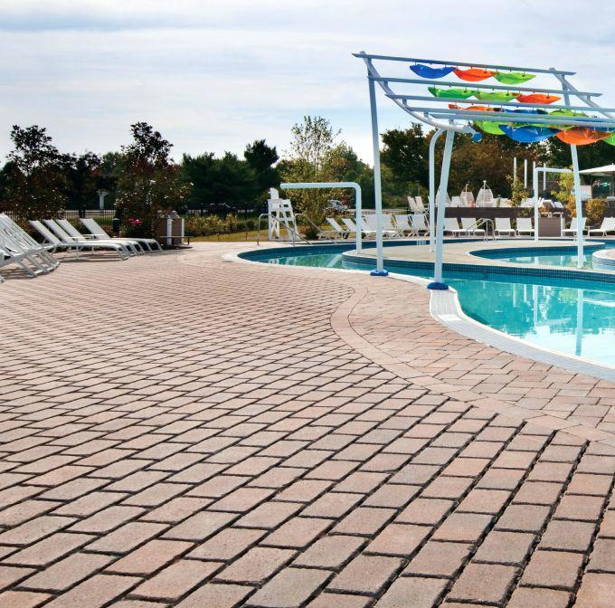 system pavers union city amazing system in brown with chaise lounge chair for modern swimming poll