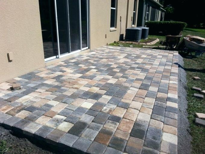 System Pavers Union City Decorative System In Grey With Sliding Glass Door For Pretty Outdoor Ideas