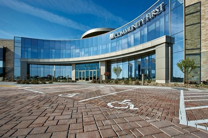 system pavers union city harmony permeable offer a sustainable solution for community first credit unions new corporate headquarters