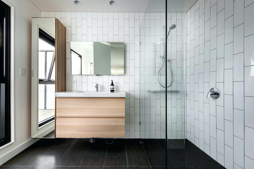 white subway tile bathroom bathroom subway tile bathroom contemporary with black and white tile
