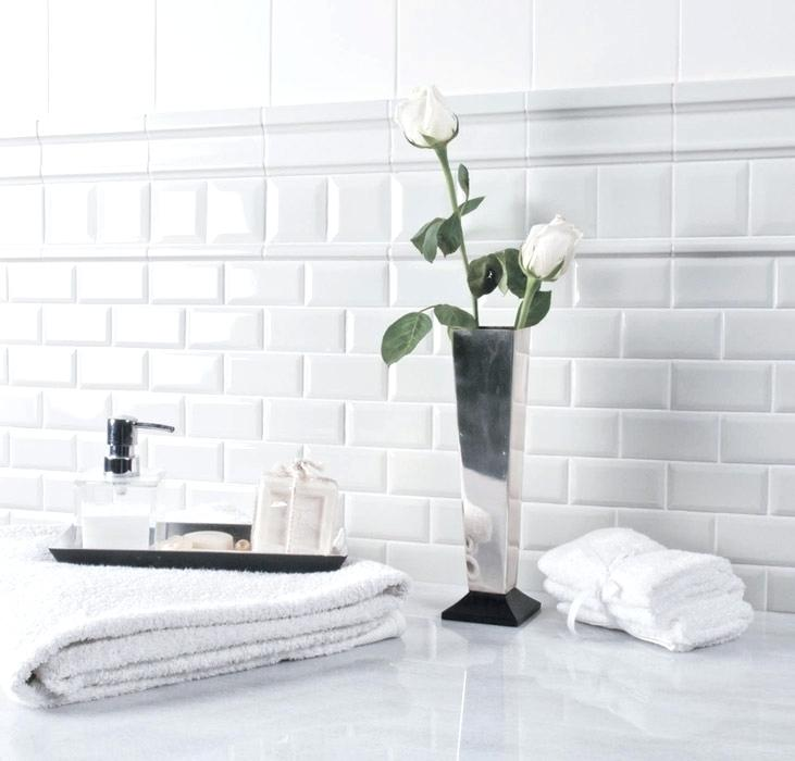 White Subway Tile Bathroom Inspiration Gallery From Elegant White Subway Tile Bathroom