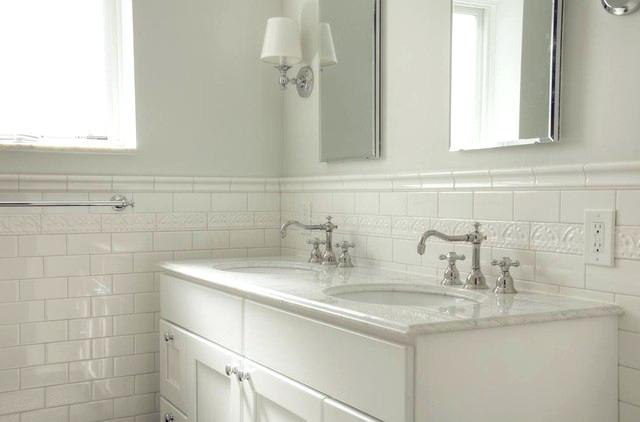 white subway tile bathroom traditional white subway tile bathroom traditional bathroom